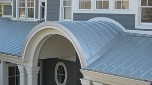 English: Radius or vaulted Standing Seam Metal...