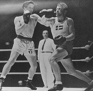 Rafael Iglesias (boxer) - Iglesias vs. Gunnar Nilsson in the 1948 Olympic final