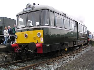 British Rail railbuses - Railbus no. 79964 at York Railfest exhibition on 3 June 2004. This vehicle is preserved on the Keighley and Worth Valley Railway.