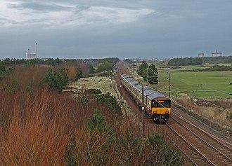 Ayrshire Coast Line - Image: Railway, Irvine geograph.org.uk 681430