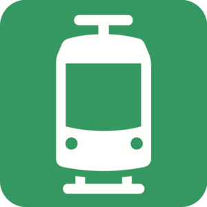 Helsinki Regional Transport Authority - HSL's logo for tram transportation.