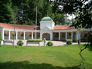 Ramlösa - The Spa Pavilion at the Ramlösa mineral water spring in Helsingborg, Sweden.