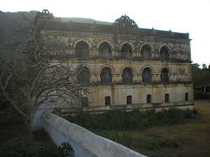 Ranpur State - View of the Ranpur palace, former residence of the ruling family of Ranpur. Owing to lack of maintenance it is currently in a much dilapidated condition.