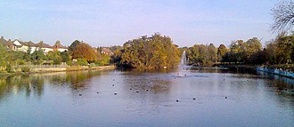 Raphael Park - Raphael Park's lake pictured from Main Road, 2008