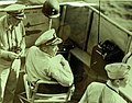 Rear Admiral Alan G. Kirk directs landing operations on Sicily with aide of staff (22601504832).jpg