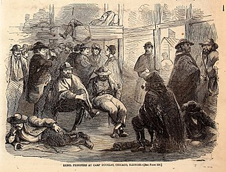 True Williams - One of Williams' earliest published works: rebel prisoners at Camp Douglas (April 5, 1862)