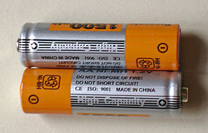 English: Rechargeable batteries Português: Pil...