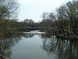 Red Oaks Mill, New York - Falls on Wappinger Creek at Red Oaks Mill