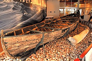Red Bay, Newfoundland and Labrador - A Basque chalupa recovered from the waters of the bay and on display in the museum.