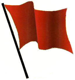 Red Flag waving