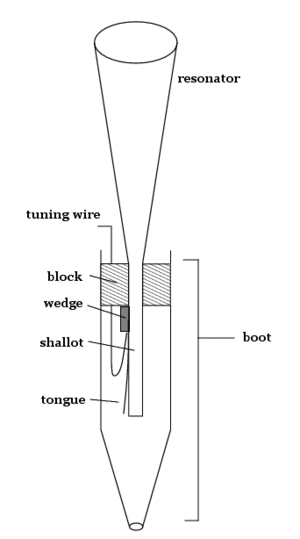 Reed pipe - A schematic of a typical reed pipe.