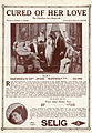 Release flier for CURED OF HER LOVE, 1913.jpg