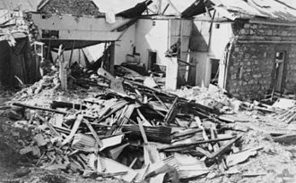 Darwin, Northern Territory - Remains of the Darwin Post Office after the first Japanese raid in 1942