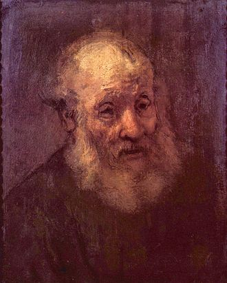 Musée Bonnat - Study of an old man by Rembrandt.