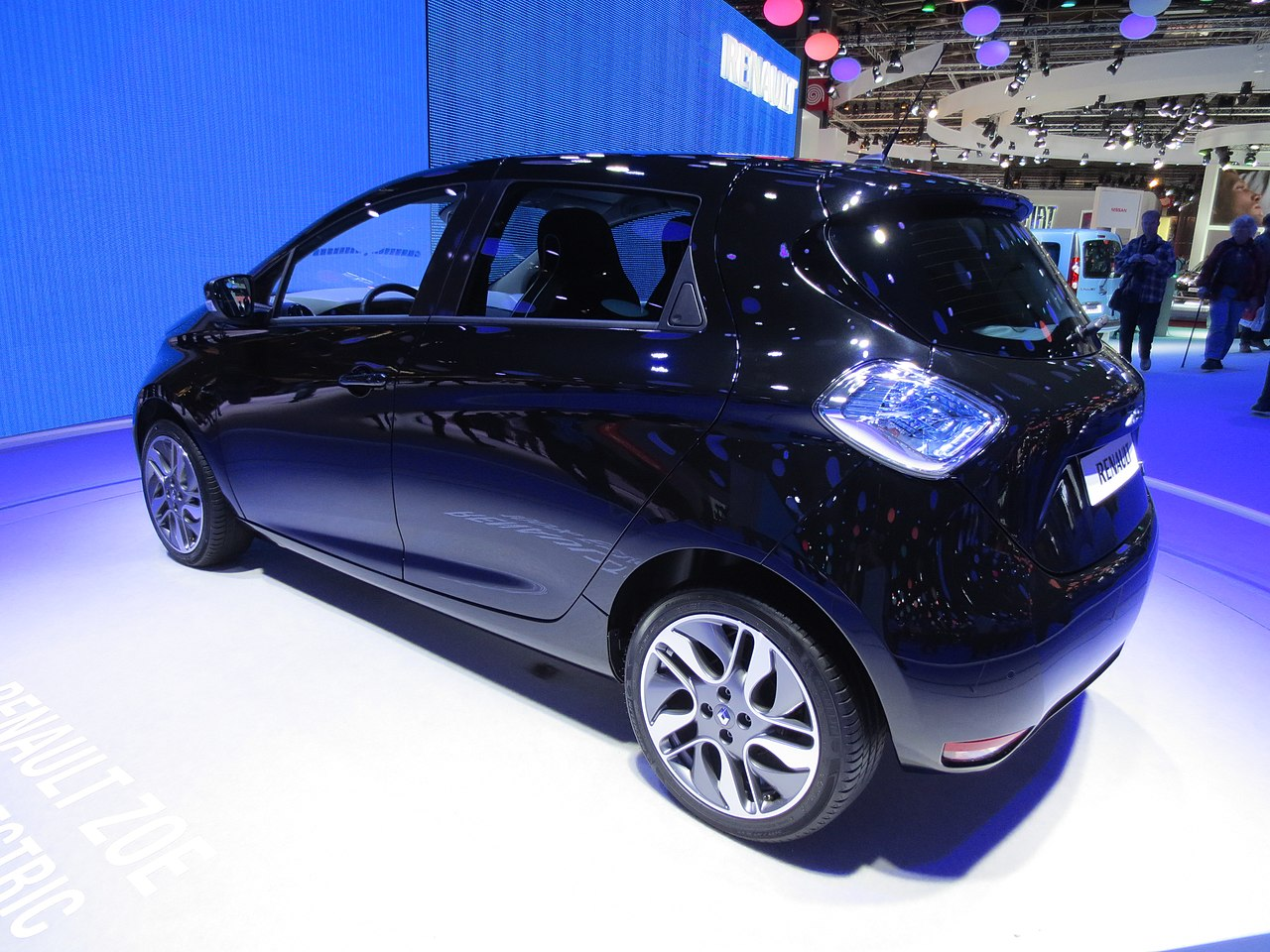 file renault zoe black rear view jpg wikimedia commons. Black Bedroom Furniture Sets. Home Design Ideas