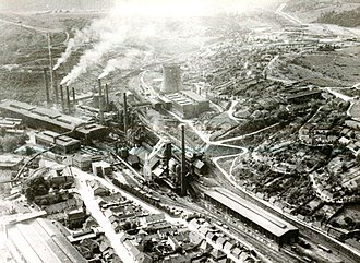 Reșița works - The steel works in 1970