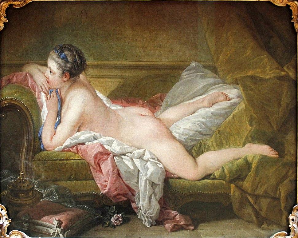 Resting Girl by Fran%C3%A7ois Boucher (1753) - Alte Pinakothek - Munich - Germany 2017 (crop)