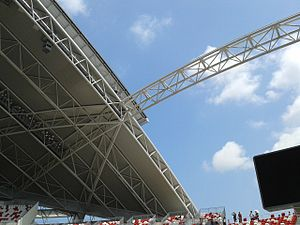 National Stadium, Singapore - Image: Retractable Roof of Singapore National Stadium