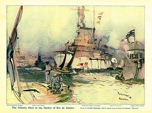 Henry Reuterdahl - Image: Reuterdahl Atlantic Fleet in Rio