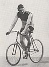 A male cyclist riding his bicycle