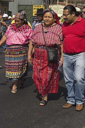 Rigoberta Menchú - Menchu commemorating the Treaty on Identity and Rights of Indigenous Peoples, 2009