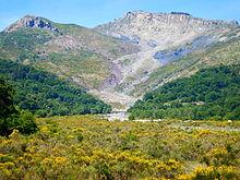 la frana dei Ritagli di Lecca nella valle di Fondachelli-Fantina in Sicilia