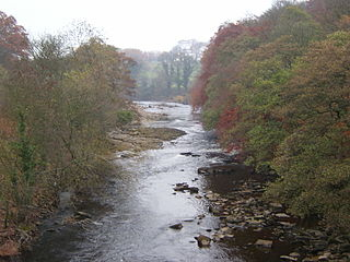River Swale River in Yorkshire, England