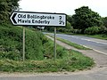 Road sign at the junction with the A16(T) - geograph.org.uk - 443642.jpg