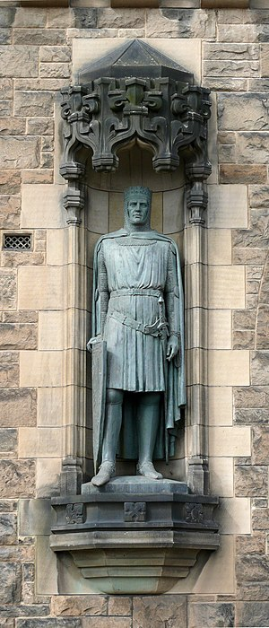 Thomas J Clapperton - Robert the Bruce, Edinburgh Castle  by Thomas Clapperton