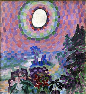 Robert Delaunay - Robert Delaunay, Paysage au disque, 1906–07, oil on canvas, 55 x 46 cm, Musée national d'art moderne (MNAM), Centre Georges Pompidou, Paris