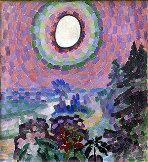 Robert Delaunay - Robert Delaunay, Paysage au disque, 1906–07, oil on canvas, 55 x 46 cm, Musée national d'art moderne (MNAM), Centre Georges Pompidou, Paris