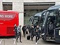 Roberto Firmino, Trent Alexander-Arnold & Jurgen Klopp exit Liverpool team bus.jpg