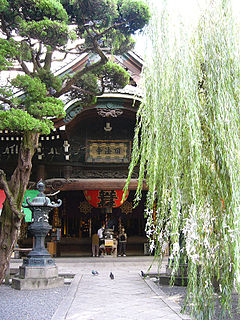 Buddhist temple in Kyoto, Japan, said to have been established by Prince Shōtoku. The name comes from its main hall