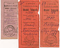 Romania Basarabia Chisinau telegraph money order counterfoils.jpg