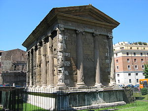 Temple of Portunus - Rear view.
