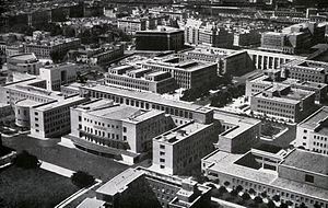 Sapienza University of Rome - The new campus of Rome University, built in 1935 by Marcello Piacentini, in a 1938 picture.