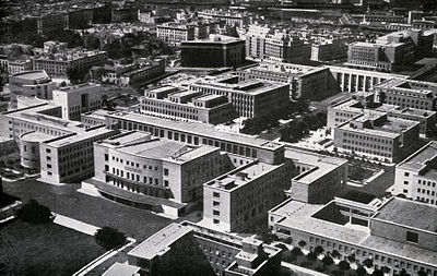 The new campus of Rome University, built in 1935 by Marcello Piacentini, in a 1938 picture.