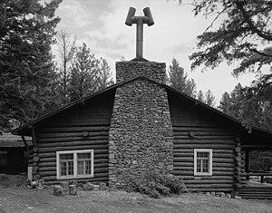 Roosevelt Lodge Historic District - Image: Roosevelt Lodge gable