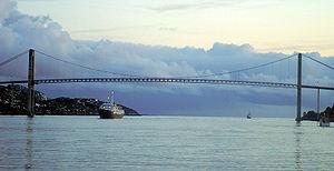 Nærøysundet - Nærøysundet with the crossing Nærøysund Bridge
