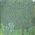 Rose Bushes Under the Trees (c1905) by Gustav Klimt.jpg