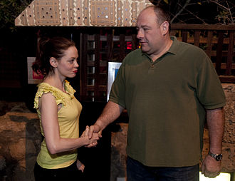 James Gandolfini - Gandolfini with Rose McGowan in Kuwait, March 2010.