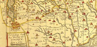 Hedehusene - The locality in 1649