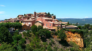 Roussillon, Vaucluse - A view of the village of Roussillon