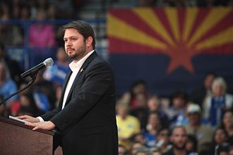 Ruben Gallego - Gallego introducing former Secretary of State Hillary Clinton at a campaign event in Phoenix.
