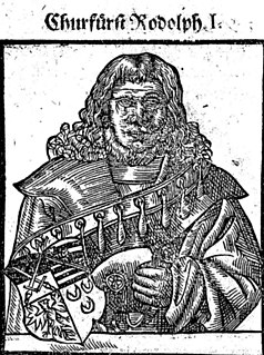 Rudolf I, Duke of Saxe-Wittenberg Duke of Saxe-Wittenberg and first Elector of Saxony