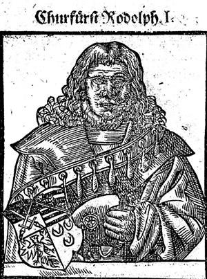 Rudolf I, Duke of Saxe-Wittenberg - Elector Rudolf I, 16th century woodcut