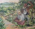 Rudolf Heinisch, Altes Paar im Garten, 1930.JPG