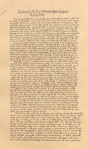 "C. Auguste Dupin - Facsimile of Poe's original manuscript for ""The Murders in the Rue Morgue"", the first appearance of C. Auguste Dupin"