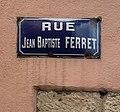 Rue Jean-Baptiste-Ferret (Mâcon)-- panneau de rue.jpg