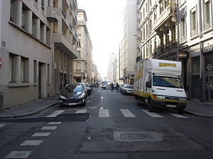 Rue de Créqui - The street, just at the north of the Cours Lafayette